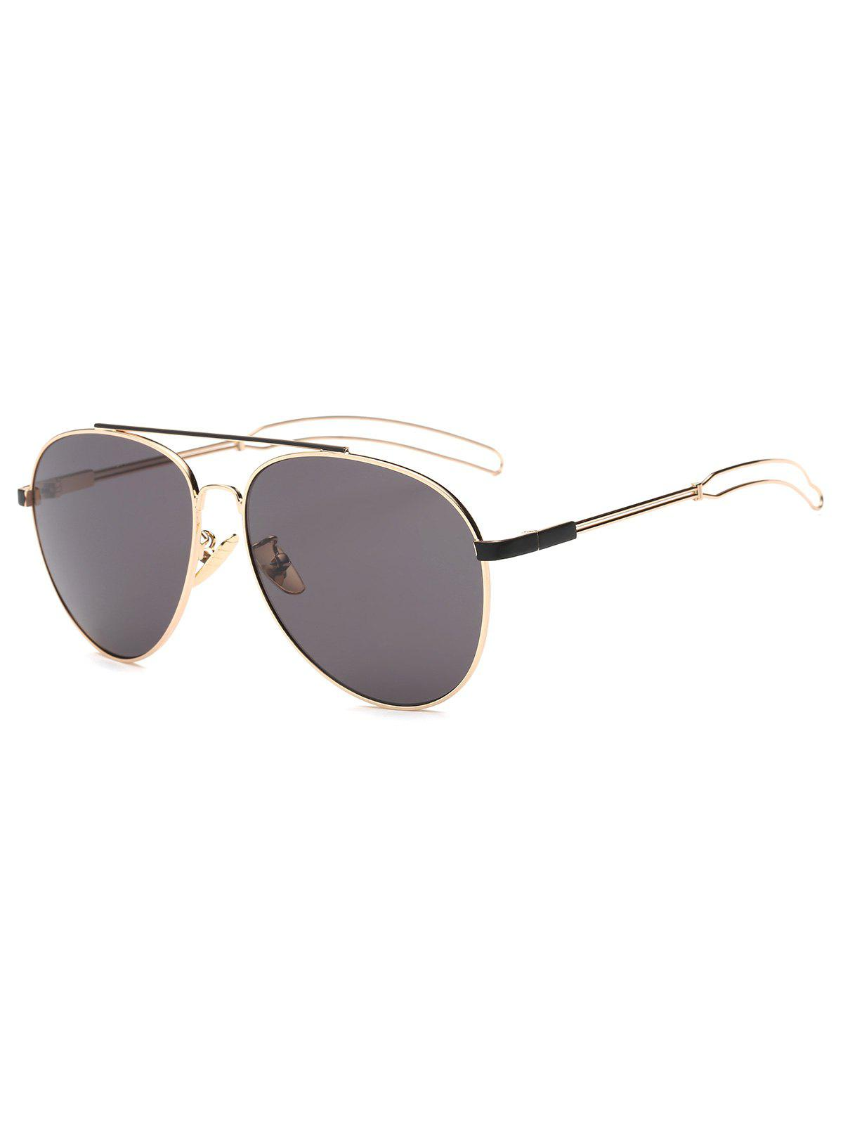 7c11f8e46f Chic Cool Crossbar Hollow Out Leg Pilot Sunglasses