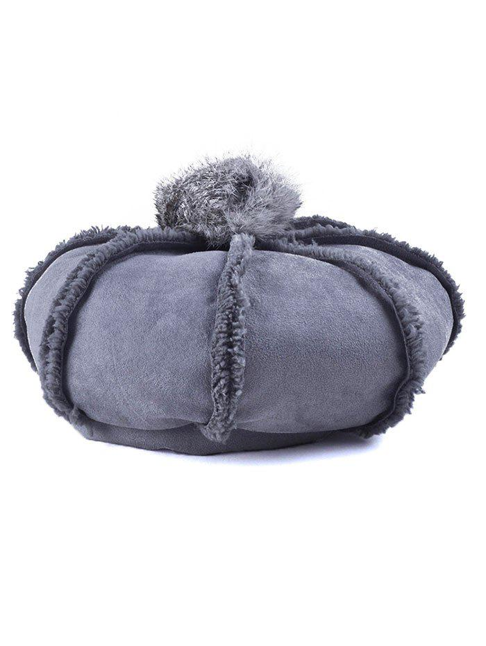 Affordable Winter Warmer Fleece Octagonal Beret Hat