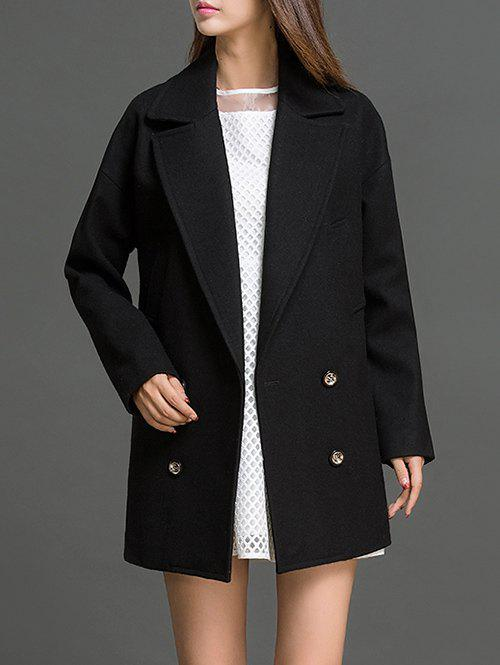 Shops Lapel Neck Fitting Pea Coat