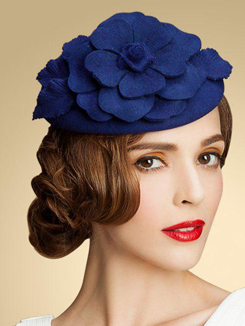 Hot Wool Layered Floral Cocktail Hat