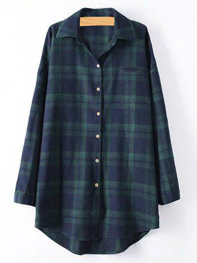 Image of Tartan Plus Size Shirt