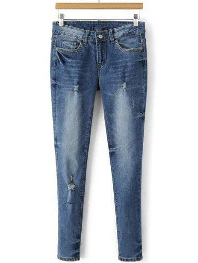 Shops Pocket Design Skinny Ripped Jeans