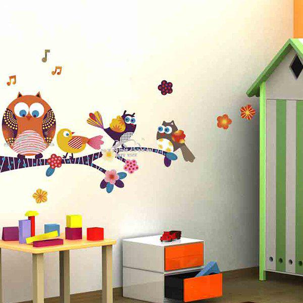 Cartoon Owl Removable Animal Nursery Wall StickersHOME<br><br>Color: COLORFUL; Wall Sticker Type: 3D Wall Stickers; Functions: Decorative Wall Stickers; Theme: Cartoon; Material: PVC; Feature: Removable; Size(L*W)(CM): 50*70CM; Weight: 0.260kg; Package Contents: 1 x Wall Stickers;
