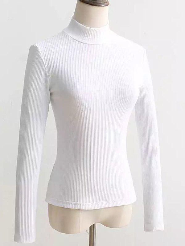 Dos Lace Up Turtleneck Pull Blanc M