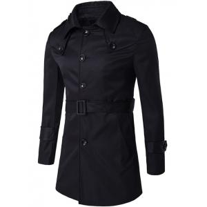 Single Breasted Epaulet Design Trench Coat
