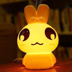 Essential Oil Drive Midge Purify Air Cartoon Ceramic TinTin Rabbit Night Light