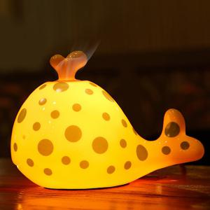 Essential Oil Drive Midge Purify Air Cartoon Ceramic Dolphin Night Light