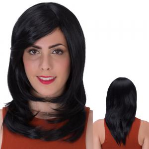 Stunning Long Side Bang Layered Tail Adduction Synthetic Wig