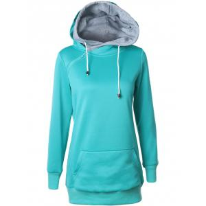 Double-Hood Zippered Pocket Hoodie