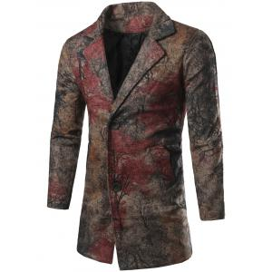 Single Breasted All-Over Printed Coat