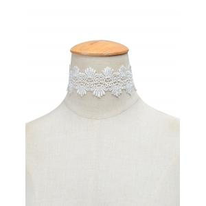 Vintage Knitted Choker Necklace - White - S