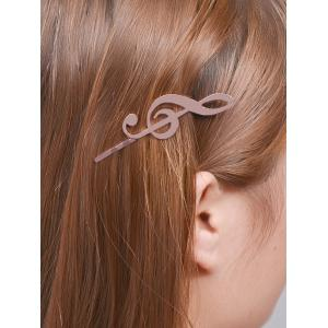 Alloy Music Note Hair Accessory - Rose Gold - S