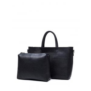 Concise Stitching Textured PU Leather Tote