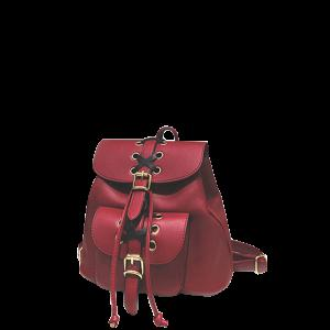 Criss-Cross Eyelet Buckles PU Leather Backpack