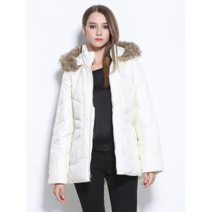 White Faux Fur Coat Cheap Shop Fashion Style With Free Shipping ...