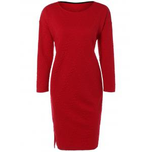Christmas Cable Knit Plaid Jacquard Dress