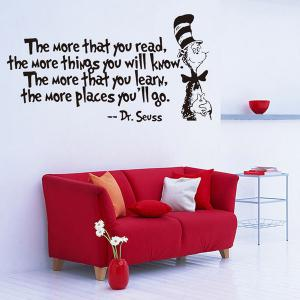 The More English Proverb Removable Vinyl Wall Decal Stickers