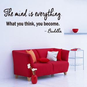 Removable Famous Proverb Design Room Office Wall Stickers - Black - 100*200cm