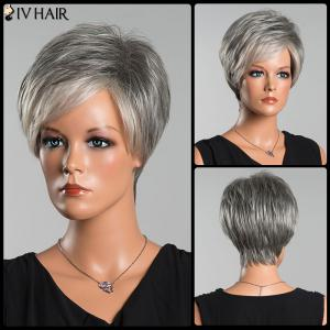 Siv Short Side Parting Colormix Fluffy Straight Human Hair Wig