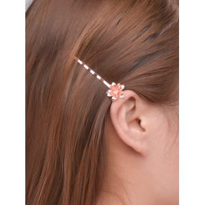 Alloy Floral Hair Accessory - Rose Gold