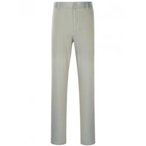 Zipper Fly Slimming Simple Straight Leg Pants - Gray - 32