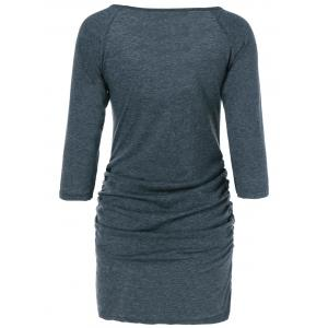Ruched Mini Bodycon Dress -