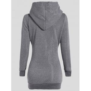 Slimming Pullover Pockets Design Hoodie -