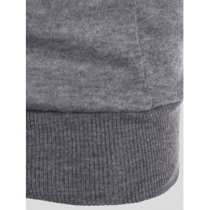 Slimming Pull poches design Hoodie - Gris 3XL