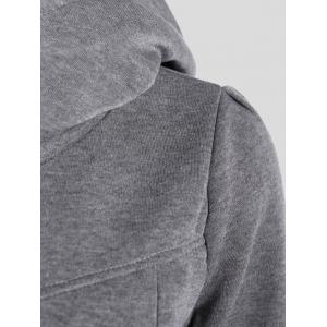 Slimming Pullover Pockets Design Hoodie - GRAY XL