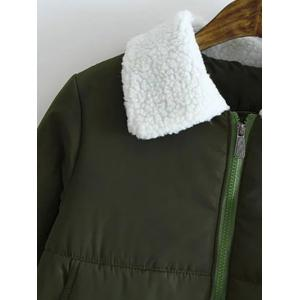 Borg Collar Quilted Winter Jacket -