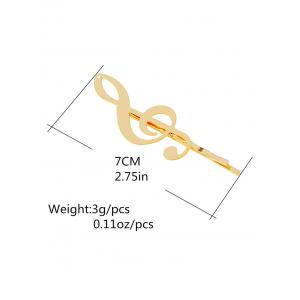 Alloy Music Note Hair Accessory - GOLDEN