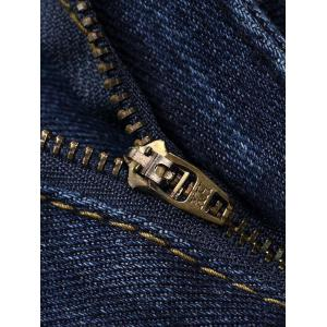 Pocket Rivet Zipper Fly Stretchy Label Jeans -