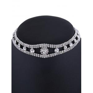 Rhinestone Velvet Choker Necklace -