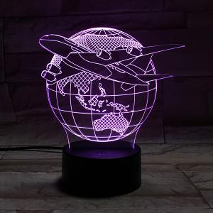Colorful 3D Visual Stereo Tellurion LED Bedroom Night Light - COLORFUL