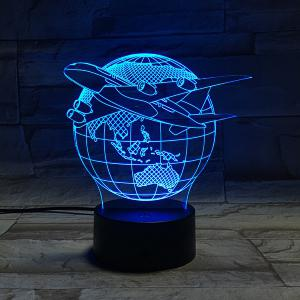 Colorful 3D Visual Stereo Tellurion LED Bedroom Night Light -