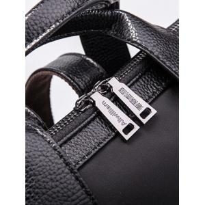 Splicing Zippers Metal Backpack -
