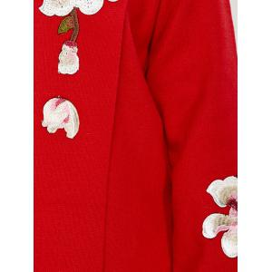 Wintersweet Embroidery Plus Size Floral Cardigan -