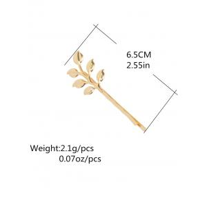 Alloy Leaves Hair Accessory - GOLDEN