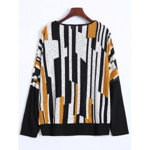 Color Block Plus Size Batwing Sweater -