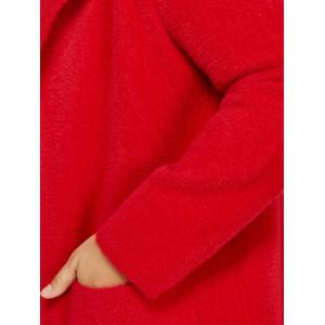 Long Hooded Cardigan with Pocket -