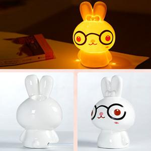Essential Oil Drive Midge Purify Air Cartoon Ceramic BeiBei Rabbit Night Light -