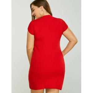 Plus Size Dress with Butterfly Embroidery -