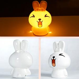 Essential Oil Drive Midge Purify Air Cartoon Ceramic NiNi Rabbit Night Light - WHITE