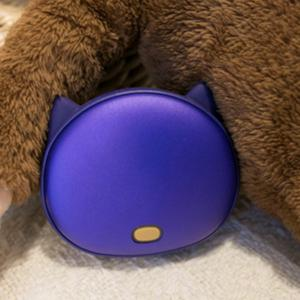 Portable Forme Main Cat Animal Warmer USB Mobile Power - Pourpre