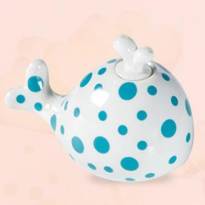Essential Oil Drive Midge Purify Air Cartoon Ceramic Dolphin Night Light - BLUE