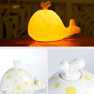 Essential Oil Drive Midge Purify Air Cartoon Ceramic Dolphin Night Light -