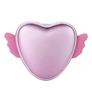 Love Heart 3500mAh Forme Main Warmer USB Mobile Power - ROSE PÂLE