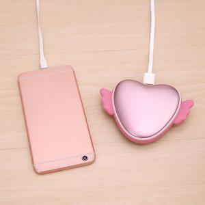 3500mAh Love Heart Shape Hand Warmer USB Mobile Power -