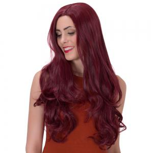 Long Side Parting Shaggy Wavy Party Wig -