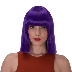 Stunning Short Full Bang Straight Synthetic Wig -